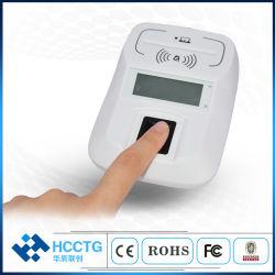 NFC Ccid biométricos Bluetooth Smart Card Reader con huella digital (HD8-FI)