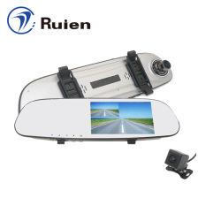 5 pulgadas de pantalla táctil cámara de visión nocturna guión espejo retrovisor coche DVR