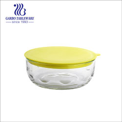 В микроволновой печи Обеденный стеклянный сосуд Посуда стеклянная чаша заслонки смешения воздушных потоков салат чашу с пластмассовой крышки багажника