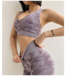 Slijtage van de Gymnastiek van de Slijtage van de Yoga van de Slijtage van de Fitness van de Sportkleding van het Mouwloos onderhemd van de Meisjes van de Kostuums van de Sport van dames de Naadloze Sexy