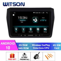 鈴木2017-2018の車のDVDプレイヤーの速い4GB RAM 64GBフラッシュ大きいスクリーンのためのWitsonのアンドロイド10の無線車