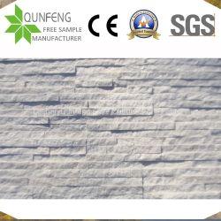 Белый Quartzite Ledgestone шпона оболочка Split перед лицом культуры камня