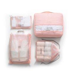 Venda por grosso de PCS 4 embalagem de bagagem de viagem organizadores Definir 100% poliéster Lavandaria Bag sacos impermeáveis da Sapata