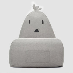 Bolsa de semillas Sofá Chair-Chicken Animal silla bean bag en color gris