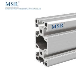 Ob4080T anodizado prateado - Perfil de alumínio extrudido industrial com fenda