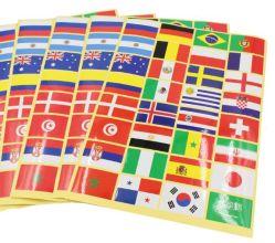 Custom Bandeira Nacional Club tatuagem temporária adesivo para o jogo de futebol