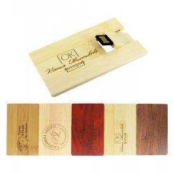 Personalizar el logotipo de la madera de bambú Grabado 4GB 8GB 16g 32GB 64 GB de tarjeta de crédito unidad Flash USB Memory Stick