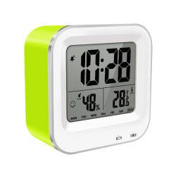 旅行のための大きいディジットの表示LCDデジタル夜ライト気象台表の目覚し時計