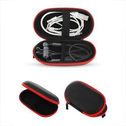 휴대용 헤드폰 전화 Bluetooth USB 케이블 저장 EVA 단단한 예