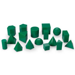 5cm de color verde el 17 de formas geométricas de plástico en 3D Los sólidos