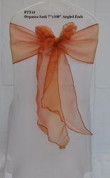 Ptt41 Silla guillotinas de lazos de Organza para bodas