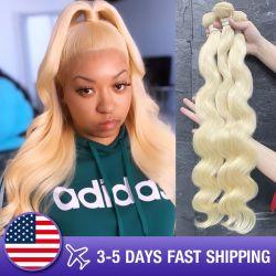 Commerce de gros 613 cheveux blonds offres bon marché vierge pure péruvien perruque de cheveux 100 % meilleure trame humaine brésilien naturelles Remy Hair Extension Weave