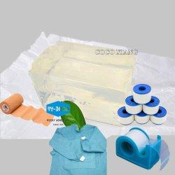 의료용 테이프 접착용 고온 용융 PSA 접착제 의료용 석고 접착제 아산화아연 테이프 접착 의료용 붕대 테이프 핫 멜트 글루 드레싱 패드 핫 멜트