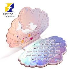 Nuevo diseño Customzied Seashell magnético Eyeshadow la forma especial de la paleta de vacío