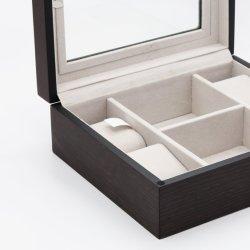 2020 تصميم جديدة [وتش بوإكس] خشبيّة مع [غلسّ ويندوو] شفّافة/فانل بيضاء