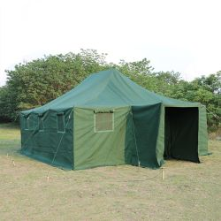 10-12 Personen-Hochleistungsstahlpole-Armee-Segeltuch-kampierendes Zelt