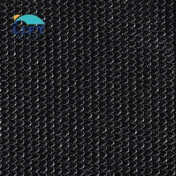 قماش ذو ظلال أحادية من نسيج HDPE ثابتة فوق البنفسجية مضادة للماء لون أسود داكن
