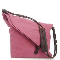 ファッション・デザイン有機性綿キャンバス旅行袋革バンド Crossbody ガールショルダーバッグ( RS-6631B )