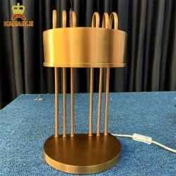 Eindeutiges Entwurfs-Hotel-moderne Beleuchtung-Edelstahl-Tisch-Lampe (LT-06)