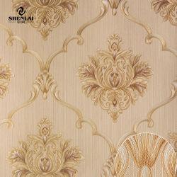 Documento di parete non autoadesivo domestico floreale impermeabile della decorazione del PVC del vinile del documento di riserva della parte posteriore