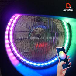 APP de Uitrusting van de Ring van de Halo van het Oog van de Engel van de Controle voor de Steun van de Steun van de Koplamp van Auto's met DRL
