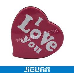 Forma de corazón Bombones Caja de hierro para las parejas