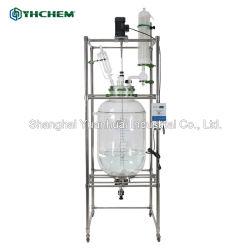 doppelte Schicht-Vakuumchemisches Glasreaktor-Reaktions-Gerät des Labor200l mit Heizungs-Funktion