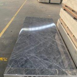 도매 3mm 모방 대리석 유동 PVC 패널/PVC 시트/UV 시트 실내 장식용