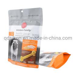 La stampa su ordinazione risigillabile si leva in piedi in su i sacchetti per l'imballaggio dell'alimento per animali domestici