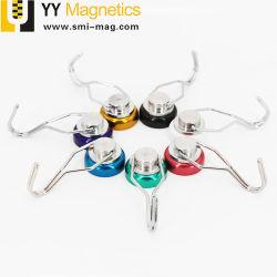 Pouvoir de maintien personnalisé de haute qualité aimant en néodyme crochets muraux magnétique