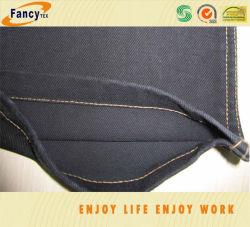 100% coton au cours de la teinture de couleur noire tissu jeans