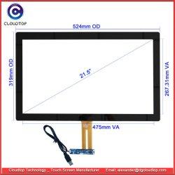 Интерфейс USB 21,5-дюймовый емкостный сенсорный экран для панели управления ПК