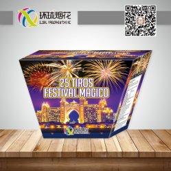 Het Vuurwerk van de Fontein van het Huwelijk van de Viering van de Ventilators van Magico van het Festival van Gfcc30025f-1.2inch 25tiros