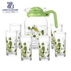 Het Drinken van de druk 7PCS de Reeks van de Kruik van het Water van het Glas (gb12016-YH)