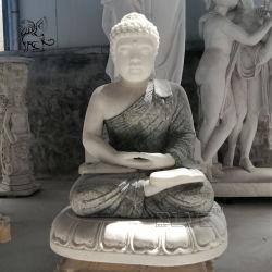Kleiner Stein, der Sakyamuni Buddha Hauptdekor-Marmor-Garten-Buddha-Statuen schnitzt