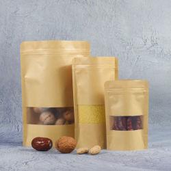 La entrega de correo reciclado negro defender el papel de estraza Cookies Paquete Spouted Café bolsa de plástico con válvula