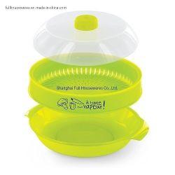 Cores PANTONE vaporizador de microondas de PP Cofre Grau Alimentício aquecimento a vapor para Cozinha Heat-Resisting Inicial
