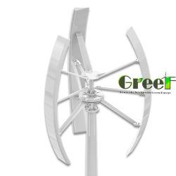 3kw ruido bajo forma hermosa de la turbina de viento Vertical de la azotea con disco de rotor exterior Coreless generador de accionamiento directo