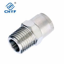 Los racores rectos de latón Mpc Acondicionador de aire accesorios de tubería de cobre conexiones neumáticas Herramienta neumática