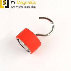 Magneet van uitstekende kwaliteit van de Haken van het Neodymium van de Douane de Rode Magnetische
