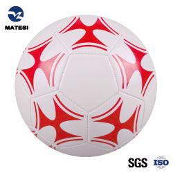Nuevo Diseño de impresión de color rojo de plástico de PVC pelota deportes de pelota de fútbol fútbol