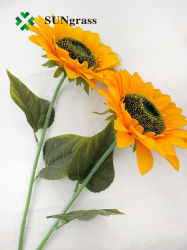 ハンドメイドデザイン装飾的なヒマワリの人工花のプラント