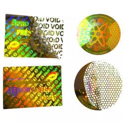 Zoll gedruckter wasserdichter Vinyllücken-Kennsatz-Lücken-Hologramm-Aufkleber