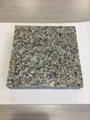 La piedra natural, losa de granito rojo cereza y azulejos