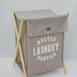 Cestini di lavanderia pieganti del blocco per grafici di legno del sacchetto della lavanderia