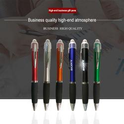 Luz de LED de plástico toque de tela com a caneta personalizada de logotipo