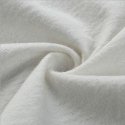 Bon marché de gros Double côté flanelle de coton blanchie brossé blanc tissu de chiffon de nettoyage