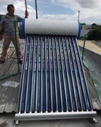 riscaldatore di acqua solare Non-Pressurized della valvola elettronica 100,150,200,250,300L con la parentesi della lega di alluminio & lo spessore di 0.4mm del serbatoio esterno d'acciaio verniciato bianco (standard)