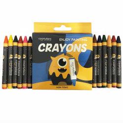 El logotipo del cliente de nivel de cosméticos de alta calidad empujar barril Insertable pintura corporal de cara a base de aceite Crayola