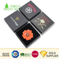 الشركة المصنعة بالجملة مخصص الطباعة يدويا بطاقات مربع ورقة هدية صناديق المجوهرات سلسلة عقد الأرانجز عقد الأرابيليه